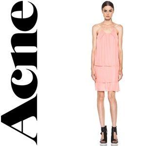 Acne Studios Satya Tape Tiered Georgette Dress